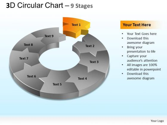 PowerPoint Templates Marketing Circular Chart Ppt Slides