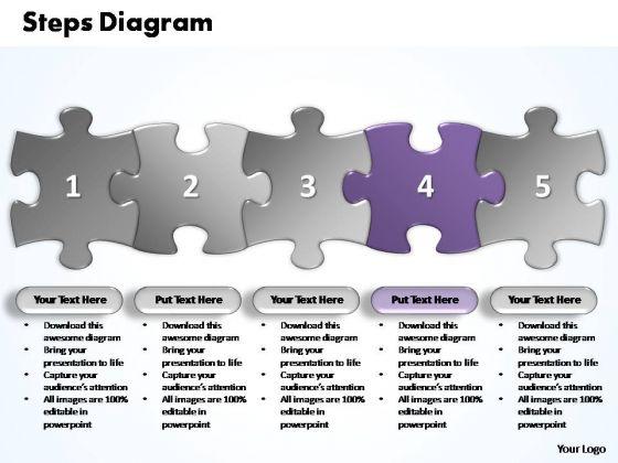 PowerPoint Templates Marketing Five Improvement Steps Puzzle Ppt Slides