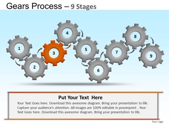 PowerPoint Templates Marketing Gears Ppt Slides