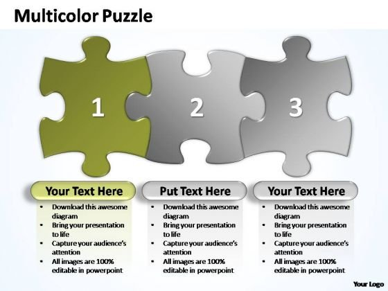 PowerPoint Templates Marketing Multicolor Puzzle Diagram Ppt Themes