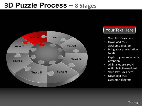 PowerPoint Templates Marketing Pie Chart Puzzle Process Ppt Layouts