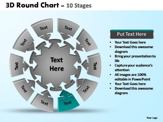PowerPoint Templates Marketing Pie Chart With Arrows Ppt Slides