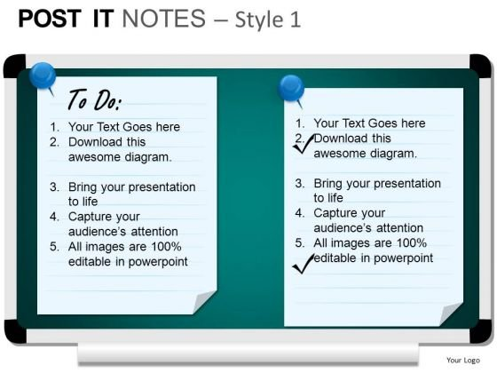 PowerPoint Templates Marketing Post It Notes Ppt Slides