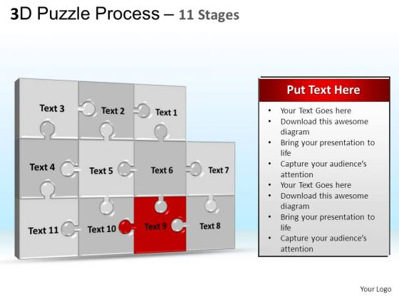 PowerPoint Templates Marketing Puzzle Process Ppt Backgrounds