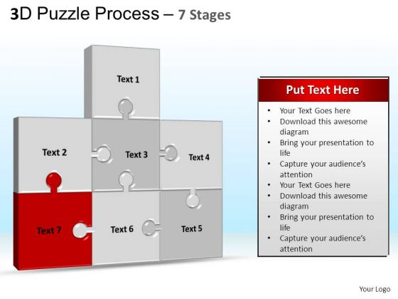 PowerPoint Templates Marketing Puzzle Process Ppt Slides
