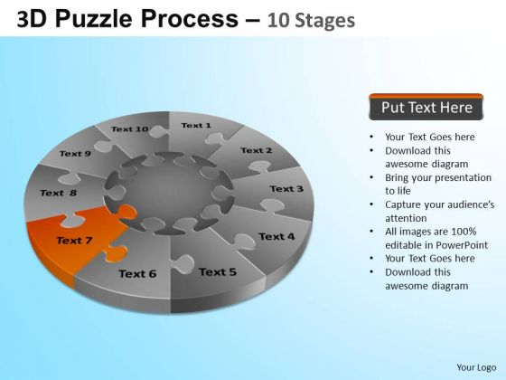 PowerPoint Templates Marketing Puzzle Segment Pie Chart Ppt Themes