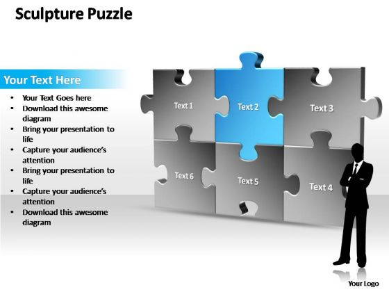 PowerPoint Templates Marketing Sculpture Puzzle Ppt Slides