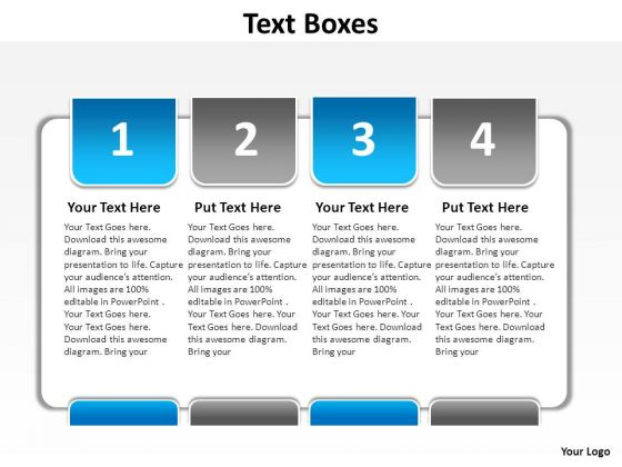 PowerPoint Templates Marketing Text Boxes Ppt Themes