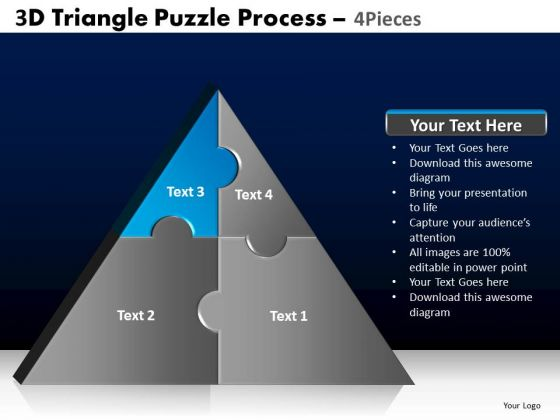 PowerPoint Templates Marketing Triangle Puzzle Ppt Themes