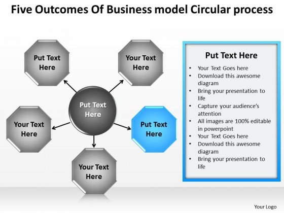 PowerPoint Templates Model Circular Process Creating Business Plan Slides