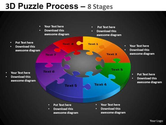 PowerPoint Templates Pie Chart Puzzle Pie Chart Ppt Slides
