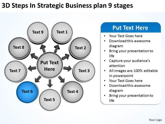 PowerPoint Templates Plan 9 Stages Relative Circular Arrow Network Slides