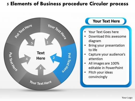 PowerPoint Templates Procedure Circular Process Home Care Business Plan