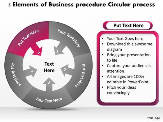 PowerPoint Templates Procedure Circular Process Ppt Shirt Business Plan