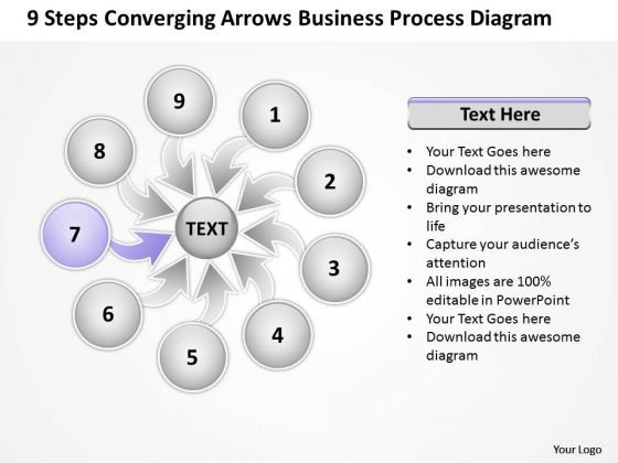 PowerPoint Templates Process Diagram Ppt Circular Flow Network