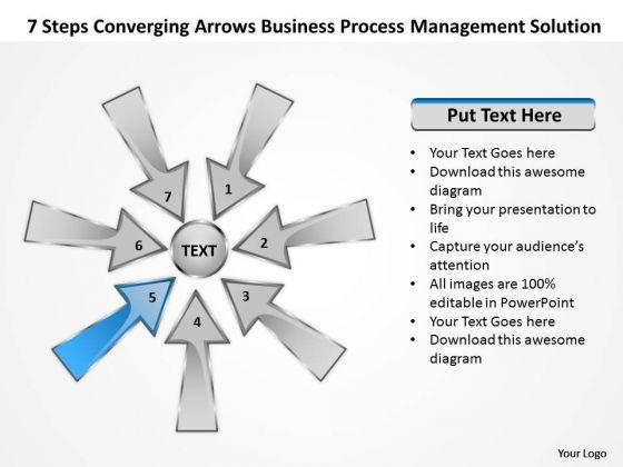 PowerPoint Templates Process Management Solution Circular Arrow