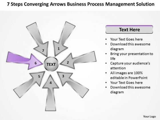 PowerPoint Templates Process Management Solution Circular Arrows