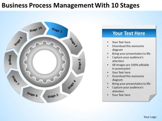 PowerPoint Templates Process Management With 10 Stages Ppt Business Ideas Slides