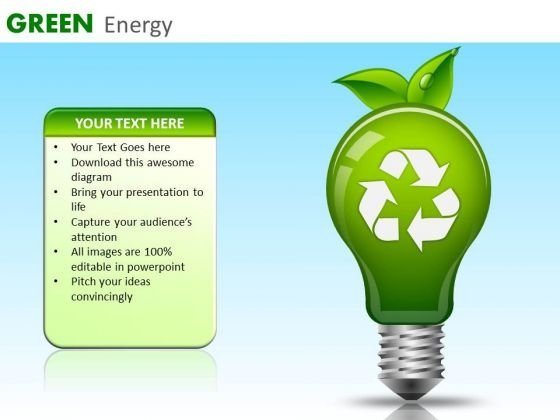PowerPoint Templates Recycle Symbol Ppt Slides