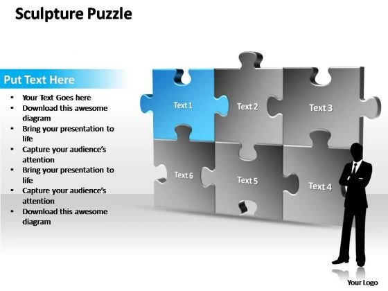 PowerPoint Templates Sale Sculpture Puzzle Ppt Slides