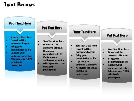 PowerPoint Templates Sale Text Boxes Ppt Process
