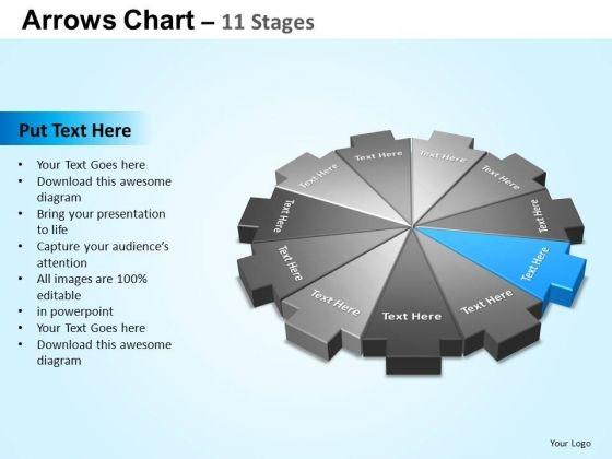 PowerPoint Templates Sales Arrows Chart Ppt Theme