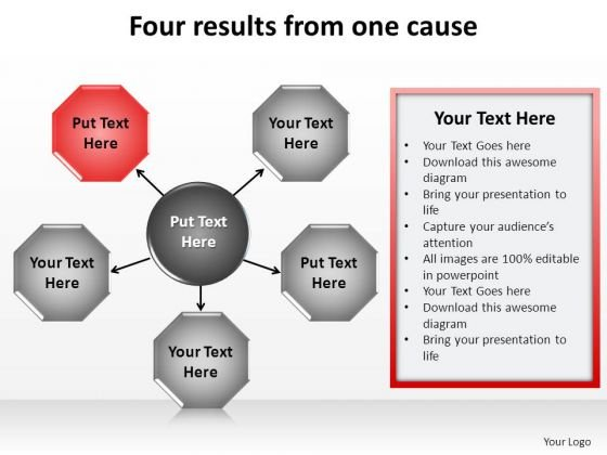 PowerPoint Templates Sales Four Results Ppt Themes