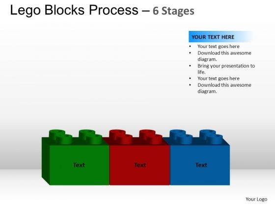 PowerPoint Templates Sales Lego Blocks Ppt Slides
