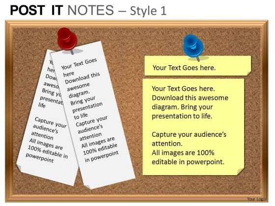 powerpoint templates sales post it notes ppt themes - powerpoint, Modern powerpoint