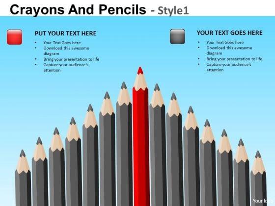 PowerPoint Templates Sharpest Pencils Crayons Ppt Slides