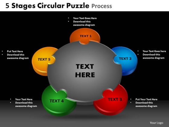 PowerPoint Templates Stages Leadership Circular Puzzle Ppt Layouts