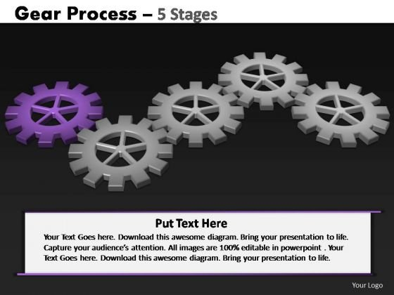 PowerPoint Templates Strategy Gears Process Ppt Themes