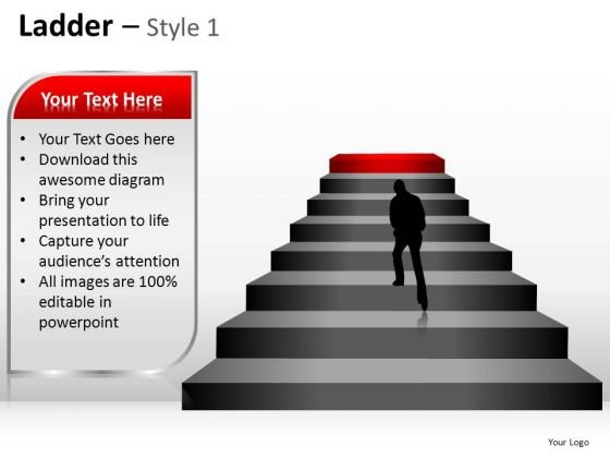 PowerPoint Templates Strategy Ladder Ppt Presentation Designs
