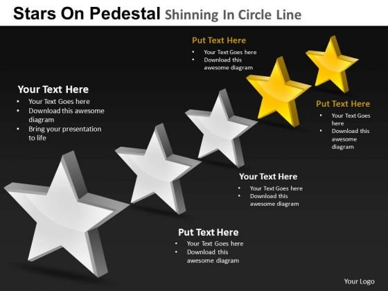 PowerPoint Templates Strategy Pedestal Shinning Ppt Themes