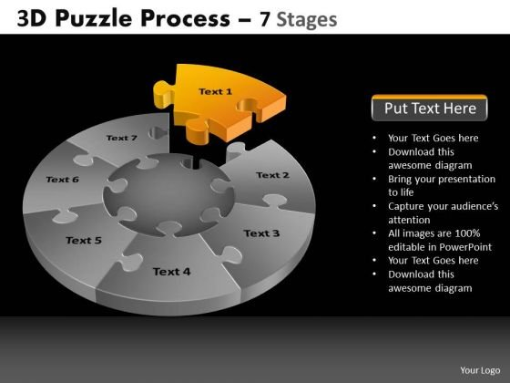 PowerPoint Templates Strategy Pie Chart Puzzle Process Ppt Backgrounds