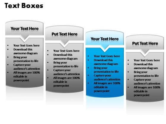 PowerPoint Templates Strategy Text Boxes Ppt Process