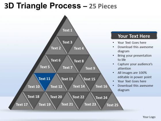 PowerPoint Templates Strategy Triangle Process Ppt Template
