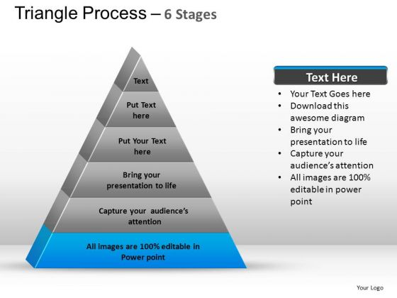 PowerPoint Templates Strategy Triangle Process Ppt Theme