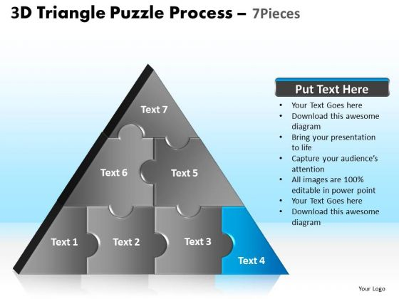 PowerPoint Templates Strategy Triangle Puzzle Ppt Slide