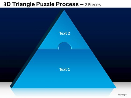 PowerPoint Templates Strategy Triangle Puzzle Ppt Slides