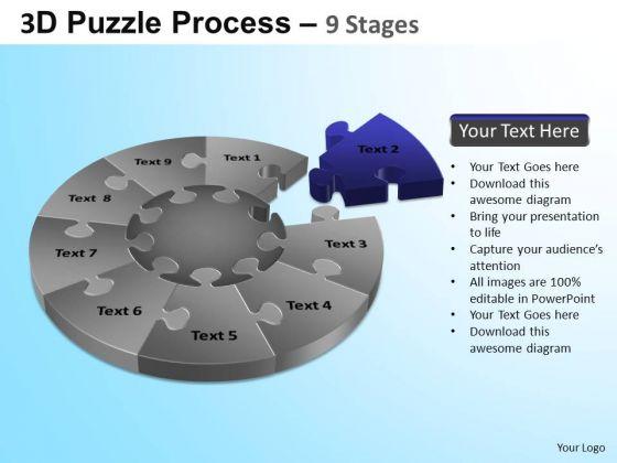 PowerPoint Templates Success Puzzle Segment Pie Chart Ppt Themes