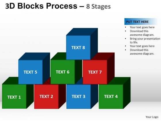 PowerPoint Templates Teamwork Blocks Process Ppt Theme