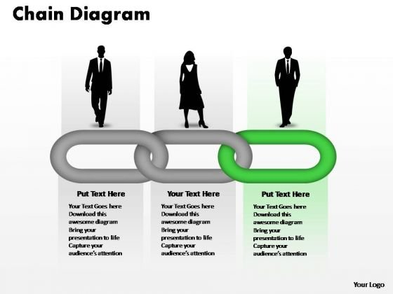 PowerPoint Templates Teamwork Process Chain Ppt Designs