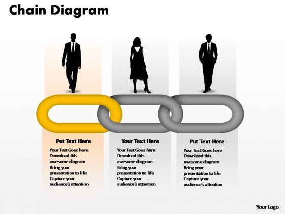PowerPoint Templates Teamwork Process Chain Ppt Slide