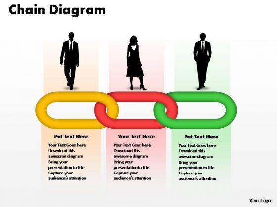PowerPoint Templates Teamwork Process Chain Ppt Slides