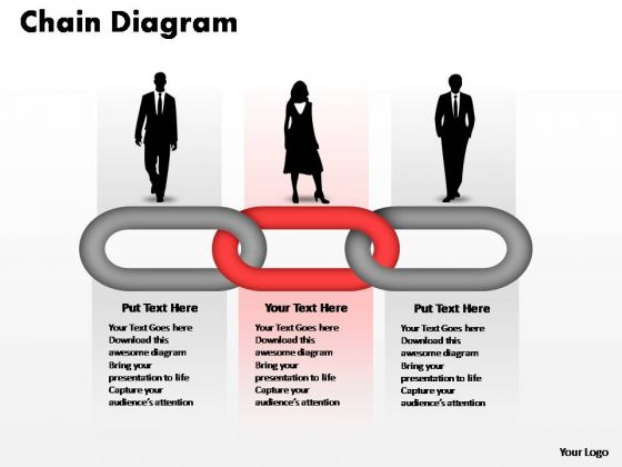 PowerPoint Templates Teamwork Process Chain Ppt Themes