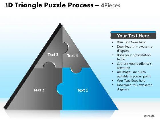PowerPoint Templates Teamwork Triangle Puzzle Ppt Design Slides