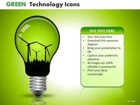 PowerPoint Templates Windmills Green Energy Technology Ppt Slides