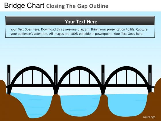 PowerPoint Theme Bridges Gap Business Success Ppt Slide