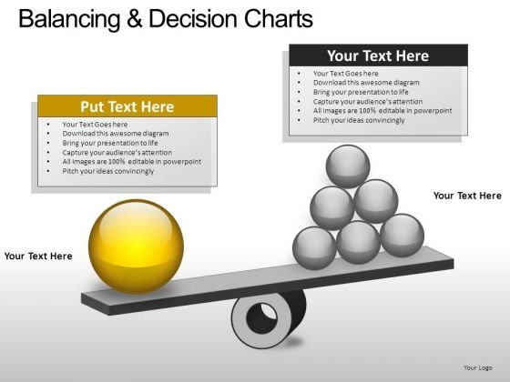 PowerPoint Theme Business Balancing Decision Ppt Slide